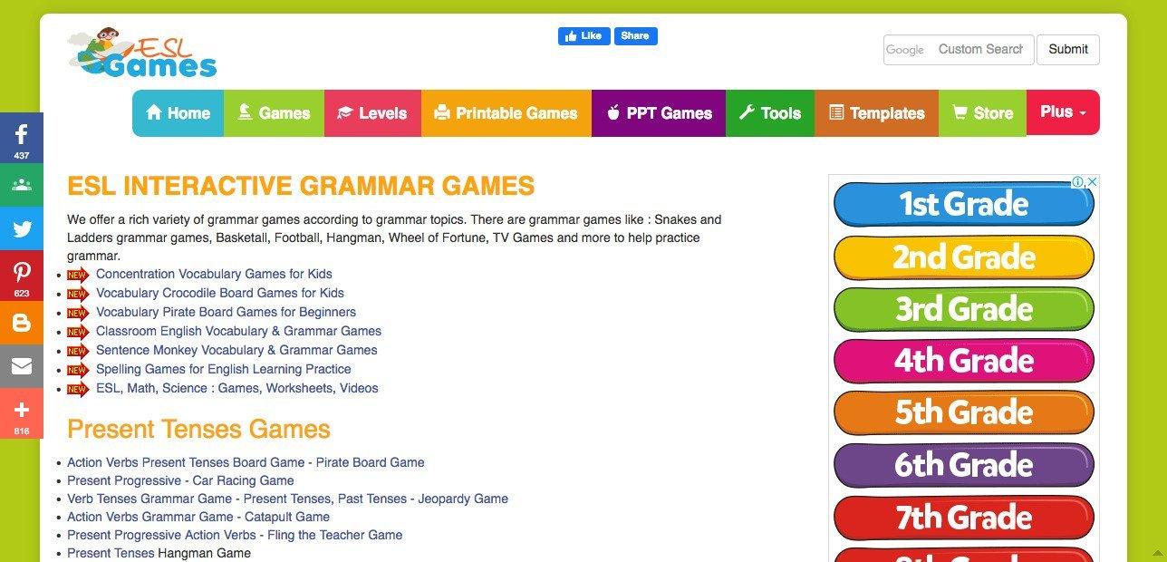 Lingual Net Online ESL Games