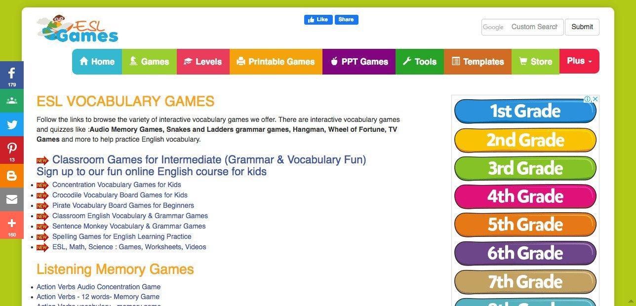Lingual Net Online ESL Vocab Games